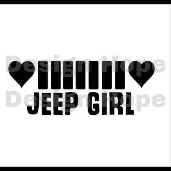 Jeep Girl Decal